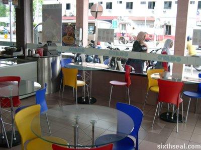 gelato cafe seats