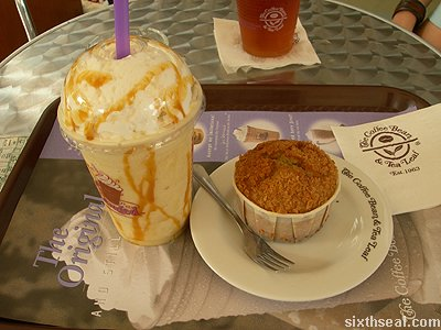 coffee bean banana caramel promo