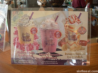 coffee bean ice blended lineup