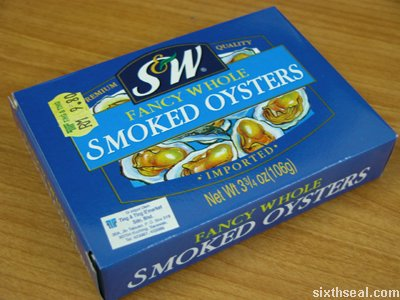 canned smoked oysters
