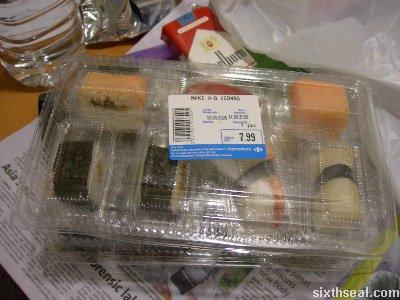 bargain sushi boxes