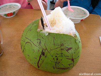 coconut chendol special coconut