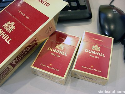 dunhill twin pack open