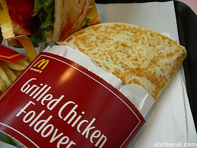 mcd chicken foldover open