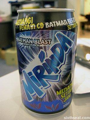 mirinda batman blast