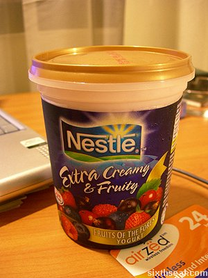 nestle extra creamy yogurt