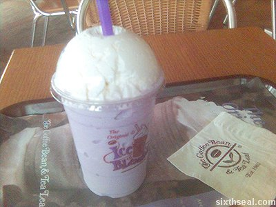 coffee bean taro ice blended