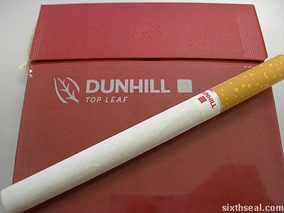 dunhill top leaf cigarette