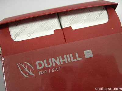 dunhill top leaf open