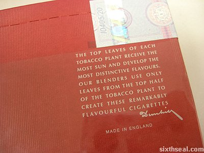 dunhill top leaf text