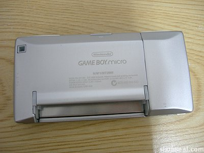 game boy micro back