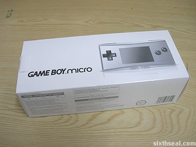 game boy micro box