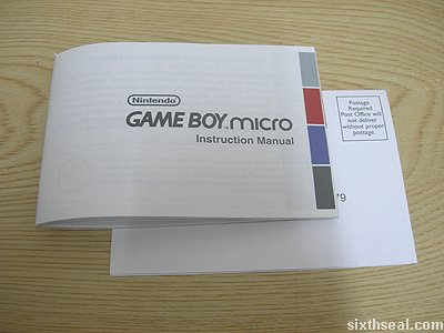 game boy micro manual