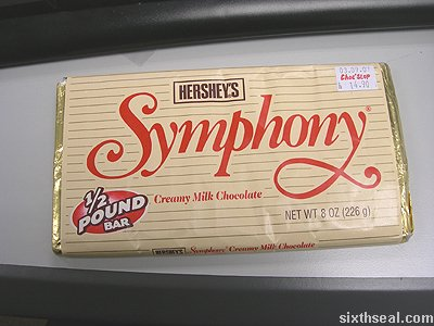 hersheys symphony chocolate bar