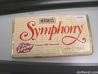 hersheys symphony chocolate bar