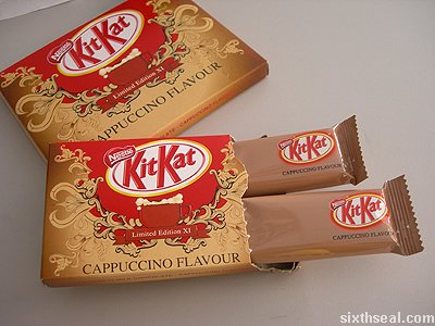 kitkat limited edition cappuccino bars