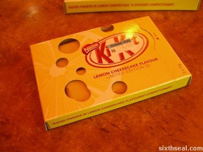 kitkat limited edition cheesecake box