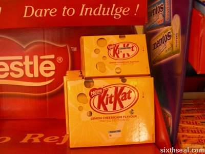 kitkat limited edition cheesecake shelf