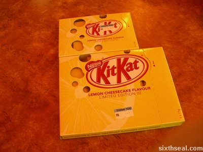 kitkat limited edition cheesecake size