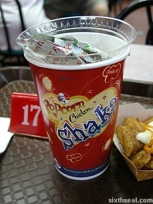 popcorn chicken shake cup