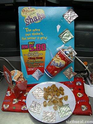 popcorn chicken shake promo