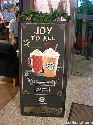 starbucks christmas drinks