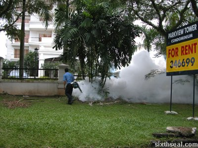 fogging aedes man
