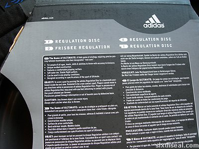 adidas ultimate frisbee rules