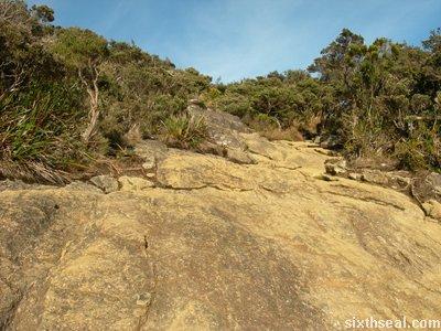 even rockier terrain