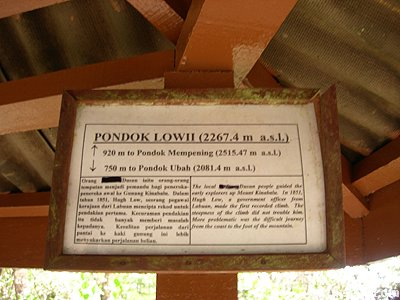pondok low sign