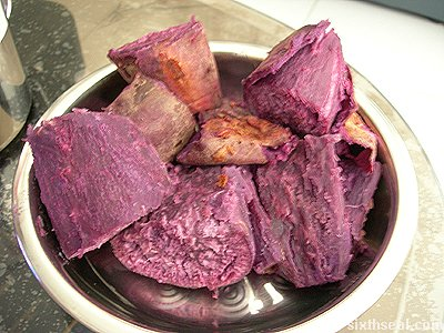 purple yam cooked