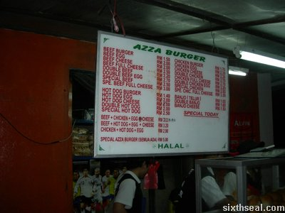 azza burger menu