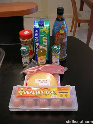 bacon omelet ingredients