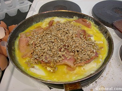 bacon omelet sunflower