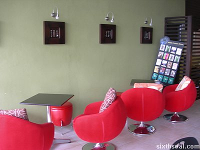 frappe red chairs