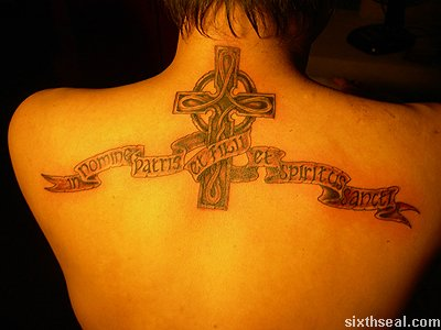 steph celtic cross tattoo