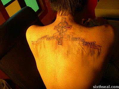 steph celtic cross tattoo forming