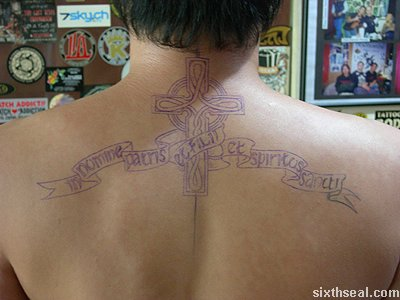 steph celtic cross tattoo outline