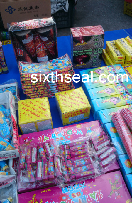 Illegal Fireworks Stall Malaysia
