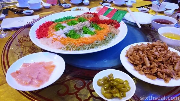 Prosperity Salmon Yee Sang