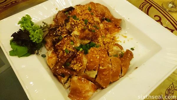 Roasted Crispy Chicken with Golden Garlic Sands