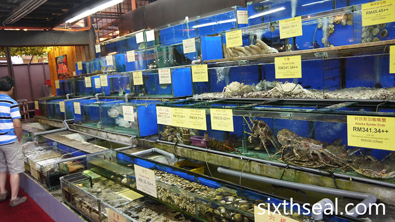 Seafood Fish Tanks