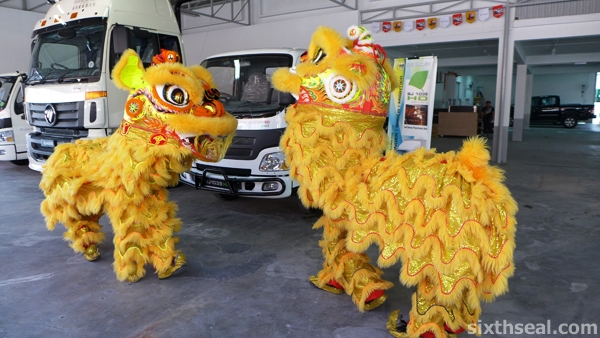 bison lion dance