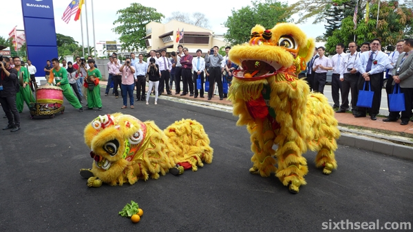 lion dance orange