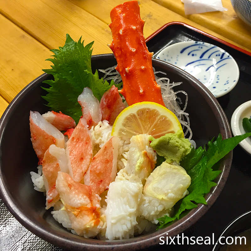 King Crab Donburi