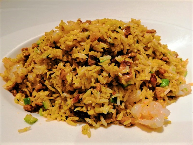 Fried-Rice-Prawns-Honey-Pork