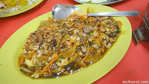 Pangkor Curry Fish Head Restaurant Fried Homemade Beancurd with Minced Chicken