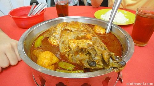 Pangkor Curry Fish Head dish