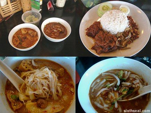 ah cheng laksa food montage