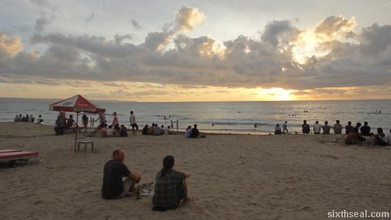 kuta sunset